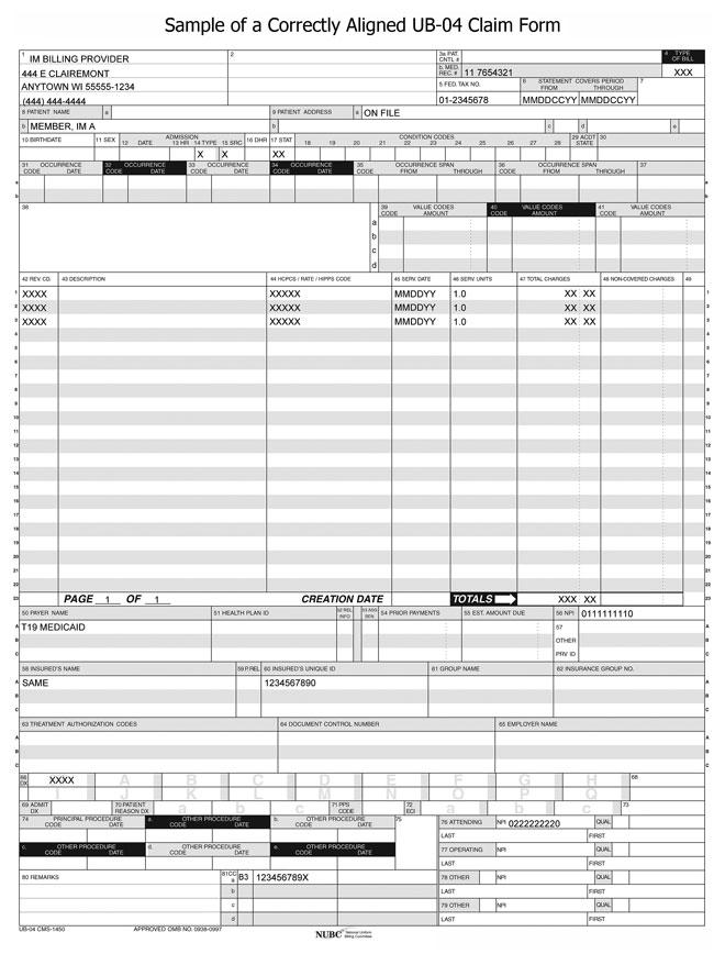 Dentistry service order sample